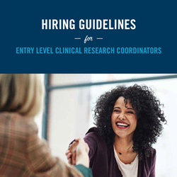 Hiring Guidelines for Entry Level CRCs